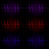 Cardiac Frequency in dark tone Color Collection Royalty Free Stock Photo
