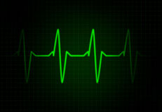 Cardiac Frequency in Green Colour Stock Image