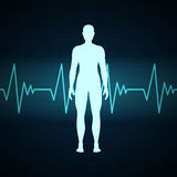 Cardiac Frequency. Illustration of a Cardiac Frequency and a man vector illustration