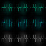 Cardiac Frequency in light tone Color Collection Royalty Free Stock Image