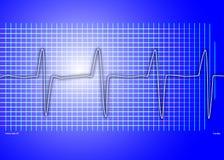 Cardiac graph blue. Cardiac graph on a blue background Stock Images
