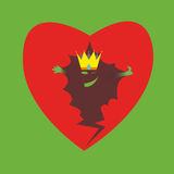 Cardiac. Inside of the heart, heart in vector, broken heart, the substance of the heart, king heart, smile in your heart, heart on green background stock illustration