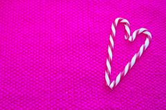 Valentine`s day happy candy cane heart Royalty Free Stock Photo