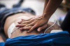 Cardiac massage Royalty Free Stock Photos