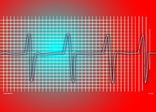 Cardiac red graph Royalty Free Stock Photography
