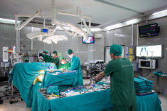 Cardiac surgery with cardiopulmonary bypass Royalty Free Stock Images