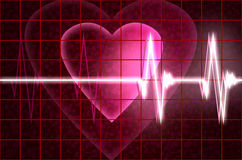 Cardial heart beating stock illustration