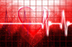 Cardial heart beating Royalty Free Stock Photography