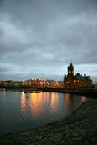 Cardiff Bay 1. Cardiff bay at dawn on stormy day royalty free stock photos
