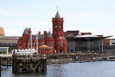 Cardiff bay. Waterfront and pierhead building, Cardiff Bay Royalty Free Stock Image