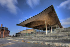 Cardiff Bay. The National Assembly for Wales Debating Chamber down on Cardiff Bay Royalty Free Stock Photo