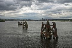 Cardiff Bay. Is the area of water created by the Cardiff Barrage in south Cardiff Stock Photos