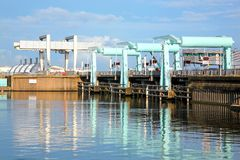 Cardiff bay barrage Stock Photography