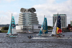 Cardiff Bay Extreme Sailing Race 2012 Royalty Free Stock Photography