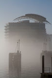 Cardiff Bay in mist Stock Photography