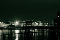 Cardiff Bay by night B Royalty Free Stock Photo