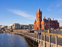Cardiff Bay Promenade in Wales Stock Images