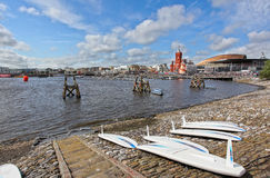 Cardiff Bay shore Stock Photography