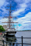 Cardiff Bay, Wales - May 21, 2017: Stavros S Niarchos, Tall Ship Royalty Free Stock Photos
