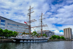 Cardiff Bay, Wales - May 21, 2017: Stavros S Niarchos, Tall Ship Royalty Free Stock Photography