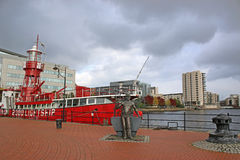 Cardiff-Bucht Lizenzfreie Stockfotos