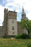 Cardiff castle Stock Image