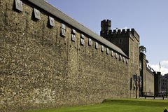 Cardiff Castle. View of Cardiff Castle, Cardiff in Wales, UK Royalty Free Stock Images