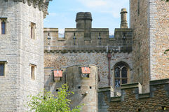 Cardiff castle. Close up of Cardiff castle Royalty Free Stock Photos