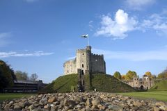 Cardiff Castle. Views around Cardiff  and the historic buildings in its city centre Royalty Free Stock Images
