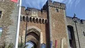 Cardiff castle gate stock photos