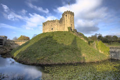 Cardiff Castle and Moat Stock Image