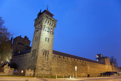 Cardiff  Castle at Night Stock Photos
