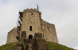 Cardiff Castle - The Norman shell keep, Cardiff, Wales, UK Stock Photo