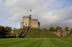 Cardiff Castle - The Roman fort, Cardiff, Wales, UK Royalty Free Stock Image