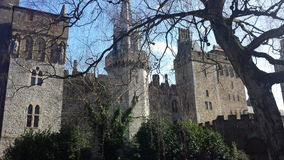 Cardiff Castle. In the sun royalty free stock photo