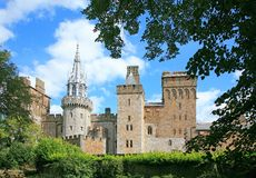 Cardiff castle. View of Cardiff castle showing a variety of architectural styles through the ages royalty free stock photos