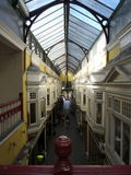 Cardiff city archtecture. Cardiff shopping arcade. Wales Stock Photography