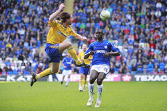 Cardiff City FC v Derby County FC Stock Image