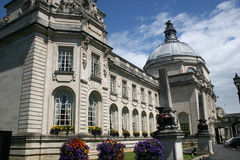 Cardiff city hall. Front facade of Cardiff city hall Stock Images