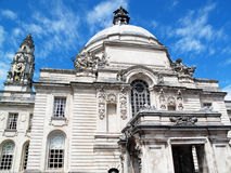 Cardiff City Hall. Cathays Park, Wales, UK, built in1906 serves as Cardiff's local centre of government Royalty Free Stock Image
