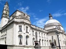 Cardiff City Hall. Cathays Park, Wales, UK, built in1906 serves as Cardiff's local centre of government Stock Photo