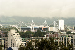 Cardiff city skyline, UK Royalty Free Stock Photos