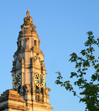 Cardiff city town hall clock tower royalty free stock photo