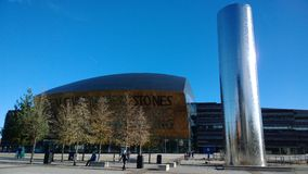 Cardiff fjärd Arkivfoto