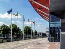 CARDIFF, GALES - 8 DE JUNHO: O Millennium Stadium nos braços de Cardiff imagens de stock