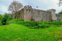 Cardiff, Gales - 20 de maio de 2017: Vista do castelo de Cardiff do Bute Fotos de Stock Royalty Free
