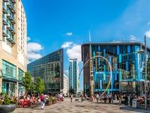 CARDIFF, GALLES - 8 GIUGNO: Alliance scolpisce in Cen della città di Cardiff Immagini Stock Libere da Diritti