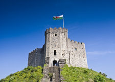 Cardiff kasztel fotografia stock