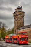 Cardiff kasztel HDR zdjęcia royalty free