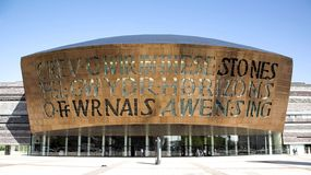 Cardiff milenium Centre zdjęcie royalty free